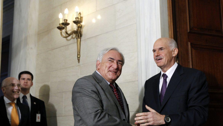 Dominique Strauss-Kahn & George Papandreou
